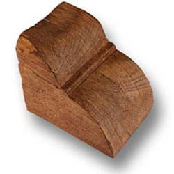 Konsoller mahogni - H-10 cm W-10 cm L-12 cm